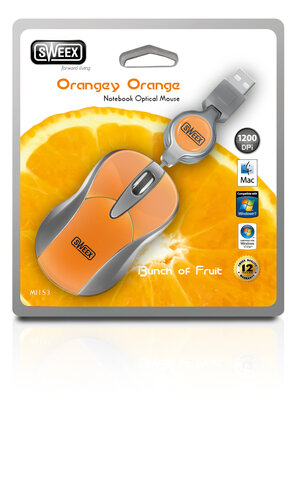 Sweex Notebook Orangey Orange USB MI153 #5